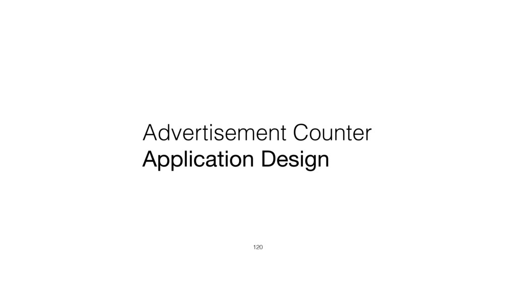 Advertisement Counter Application Design 120