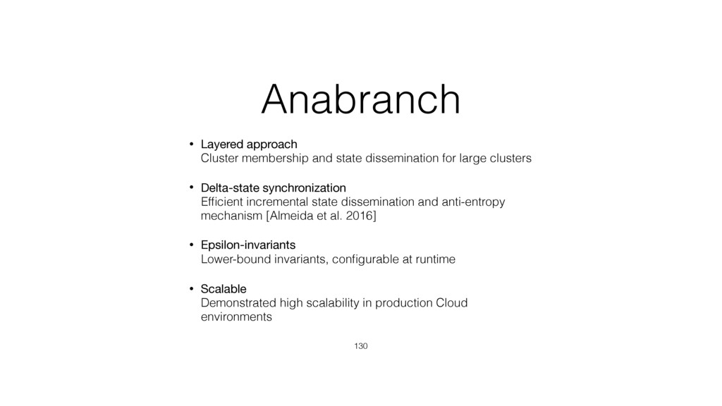Anabranch • Layered approach Cluster membershi...