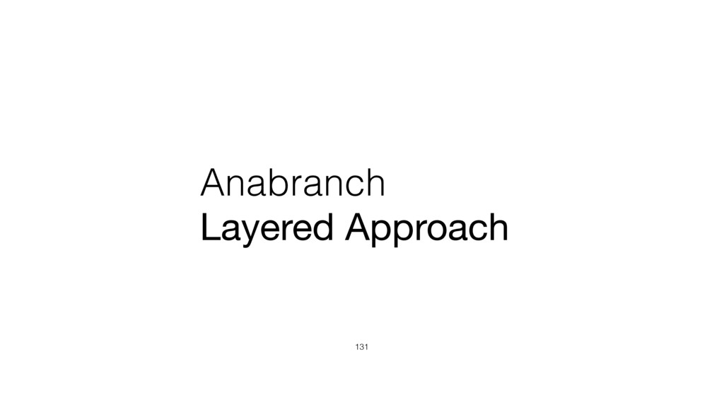 Anabranch Layered Approach 131