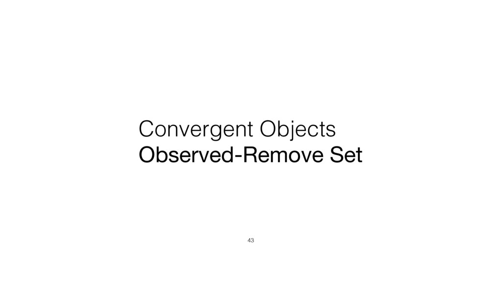 Convergent Objects Observed-Remove Set 43