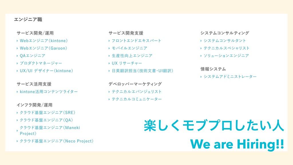 ָ͘͠Ϟϒϓϩ͍ͨ͠ਓ We are Hiring!!
