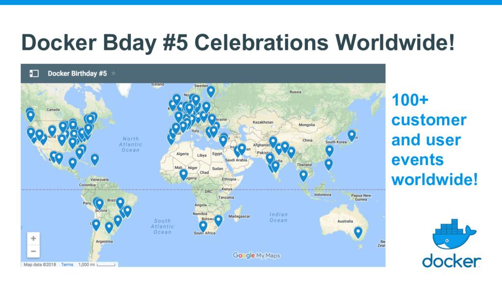 Docker Bday #5 Celebrations Worldwide! 100+ cus...