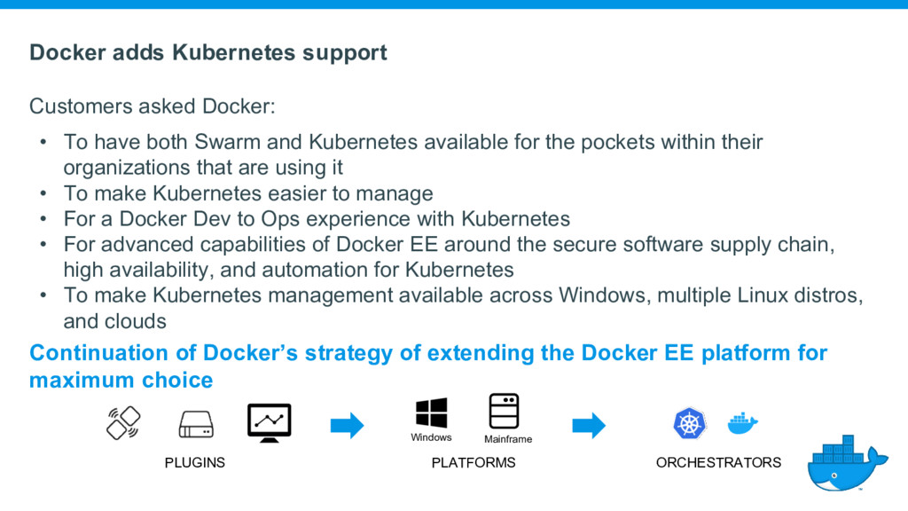 Docker adds Kubernetes support Customers asked ...