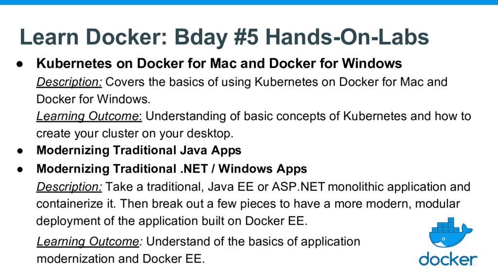 Learn Docker: Bday #5 Hands-On-Labs ● Kubernete...