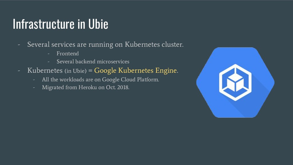 Infrastructure in Ubie - Several services are r...