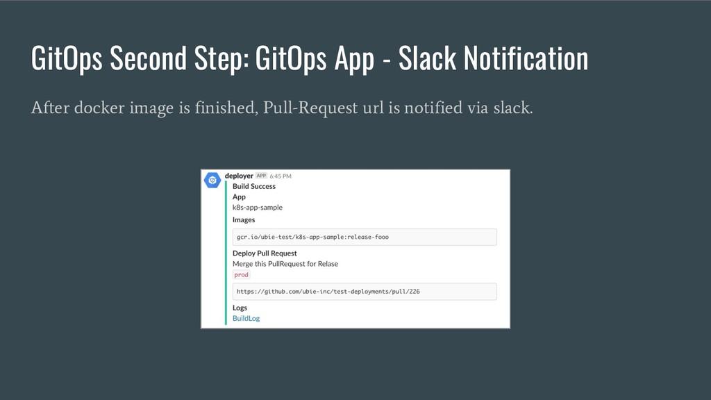 GitOps Second Step: GitOps App - Slack Notifica...