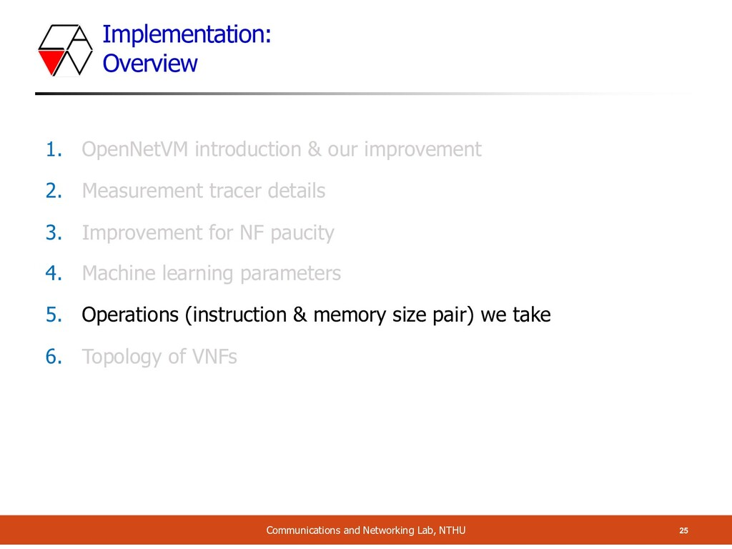 Implementation: Overview 25 Communications and ...