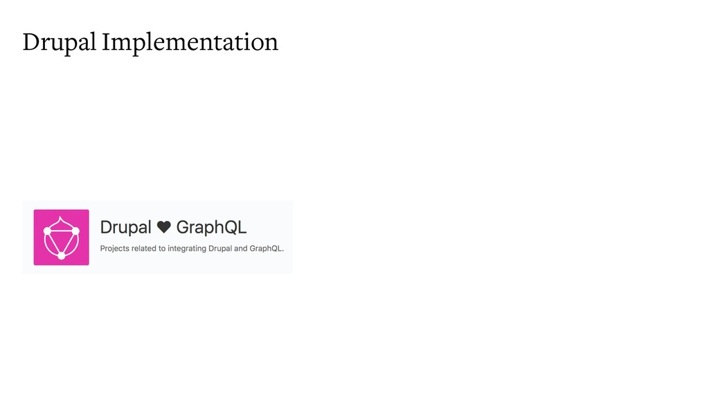 Drupal Implementation