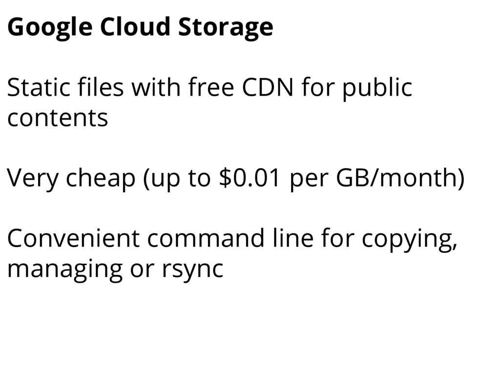 Google Cloud Storage Static files with free CDN...