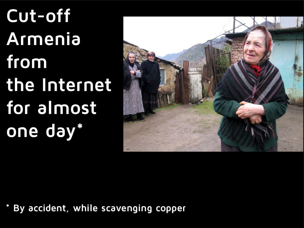 Cut-off Armenia from the Internet for almost on...