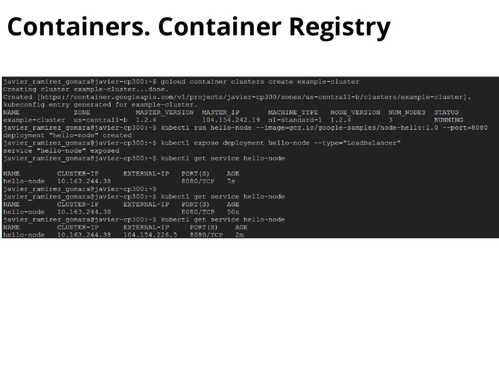 Containers. Container Registry