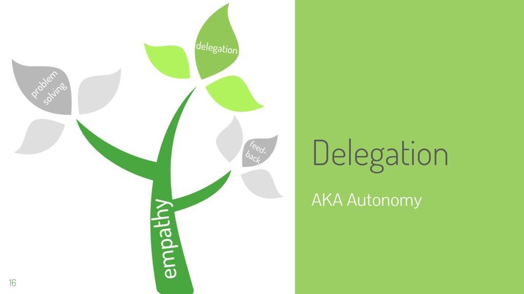 Delegation AKA Autonomy 16