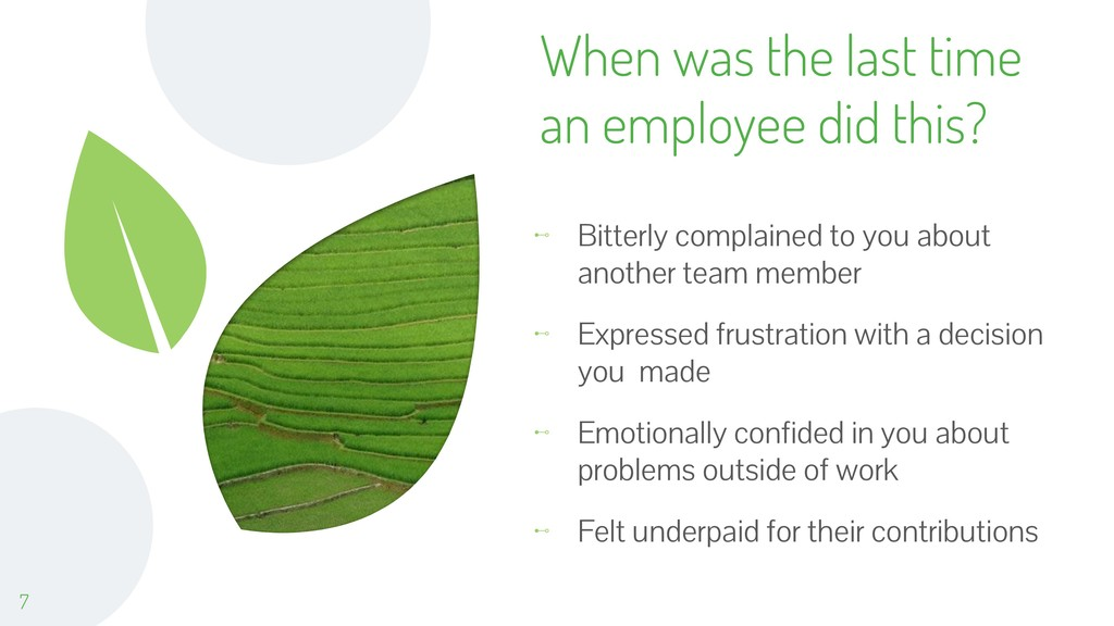 When was the last time an employee did this? ⊷ ...