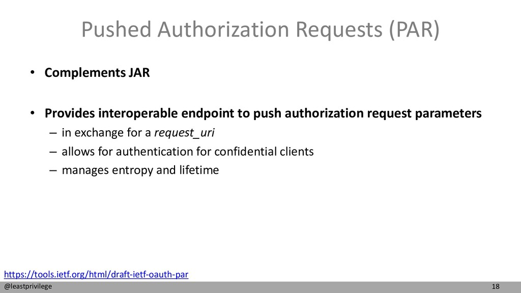 18 @leastprivilege Pushed Authorization Request...