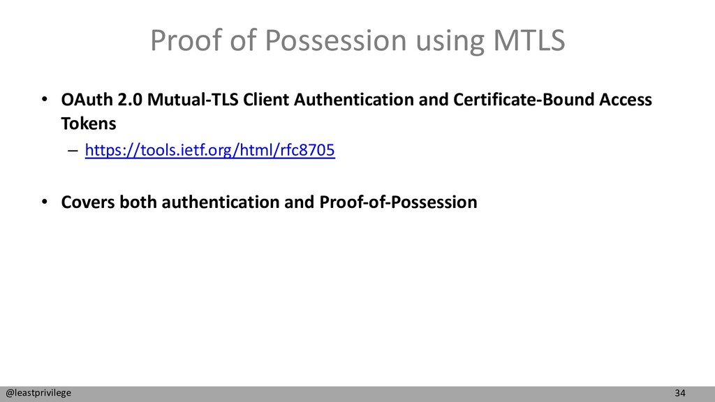 34 @leastprivilege Proof of Possession using MT...