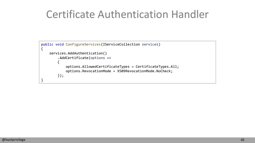 45 @leastprivilege Certificate Authentication H...