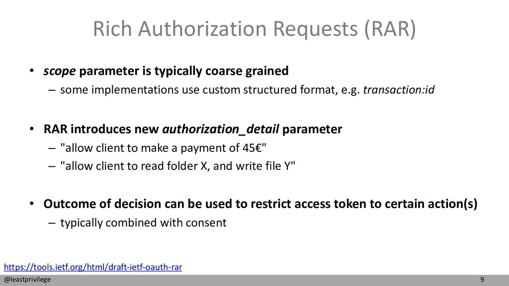 9 @leastprivilege Rich Authorization Requests (...