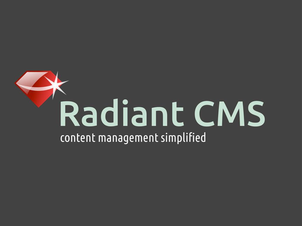 Radiant CMS content management simplified