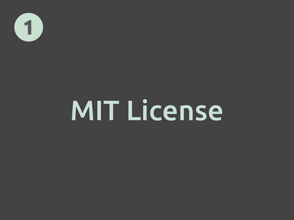 MIT License 1