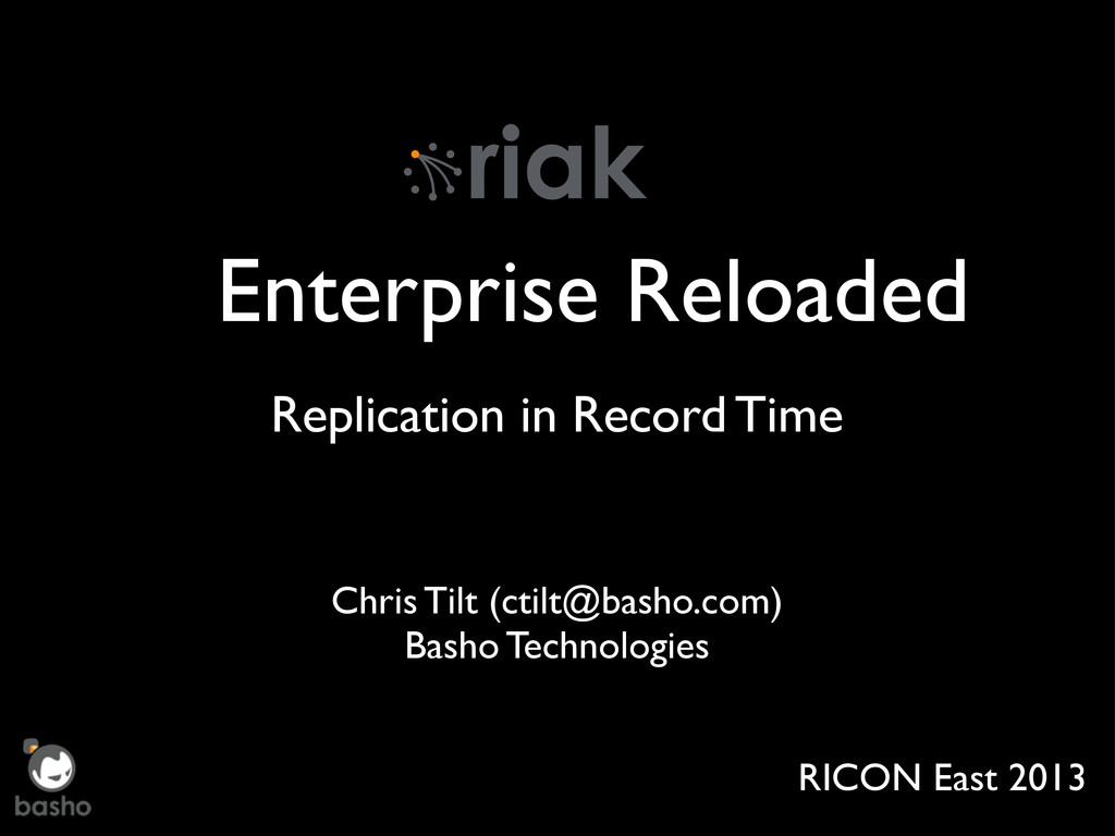 Enterprise Reloaded Replication in Record Time ...