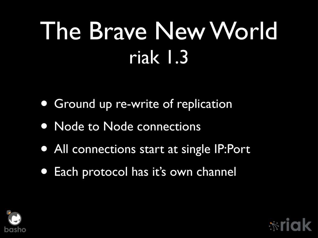 The Brave New World riak 1.3 • Ground up re-wri...