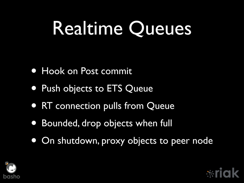 Realtime Queues • Hook on Post commit • Push ob...
