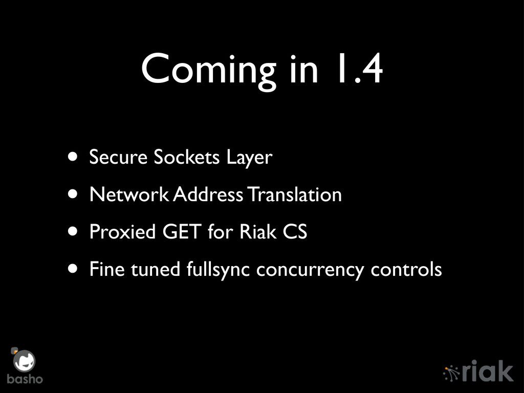 Coming in 1.4 • Secure Sockets Layer • Network ...