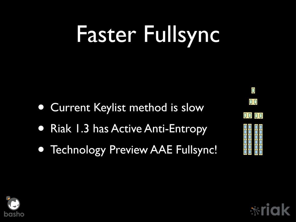 Faster Fullsync • Current Keylist method is slo...