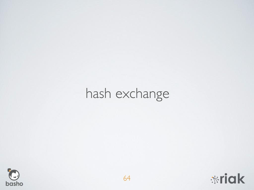 64 hash exchange