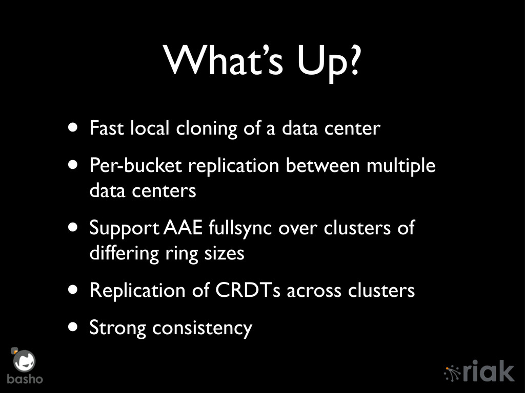 What's Up? • Fast local cloning of a data cente...