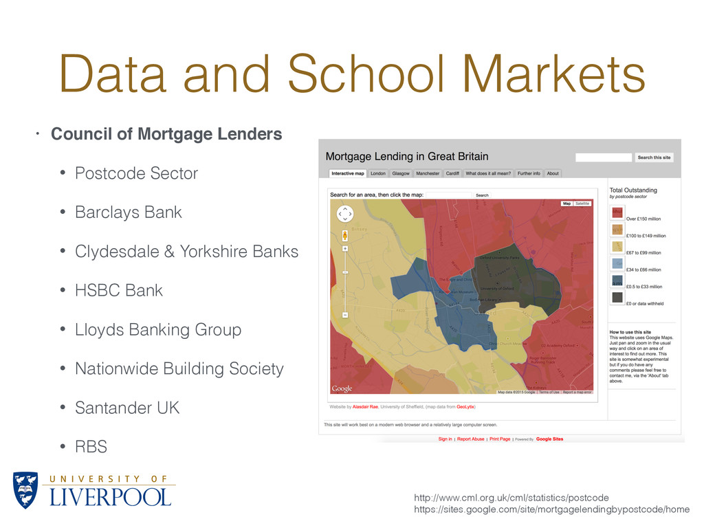 Data and School Markets • Council of Mortgage L...