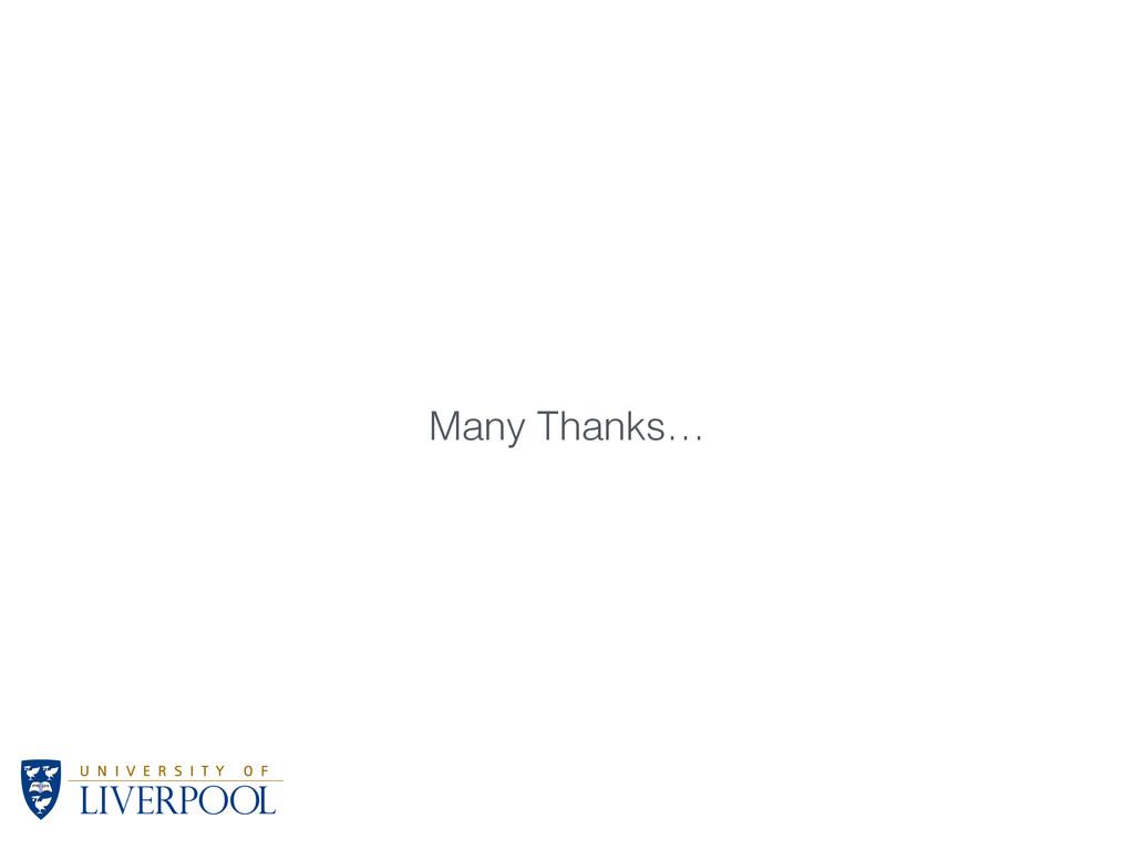 Many Thanks…