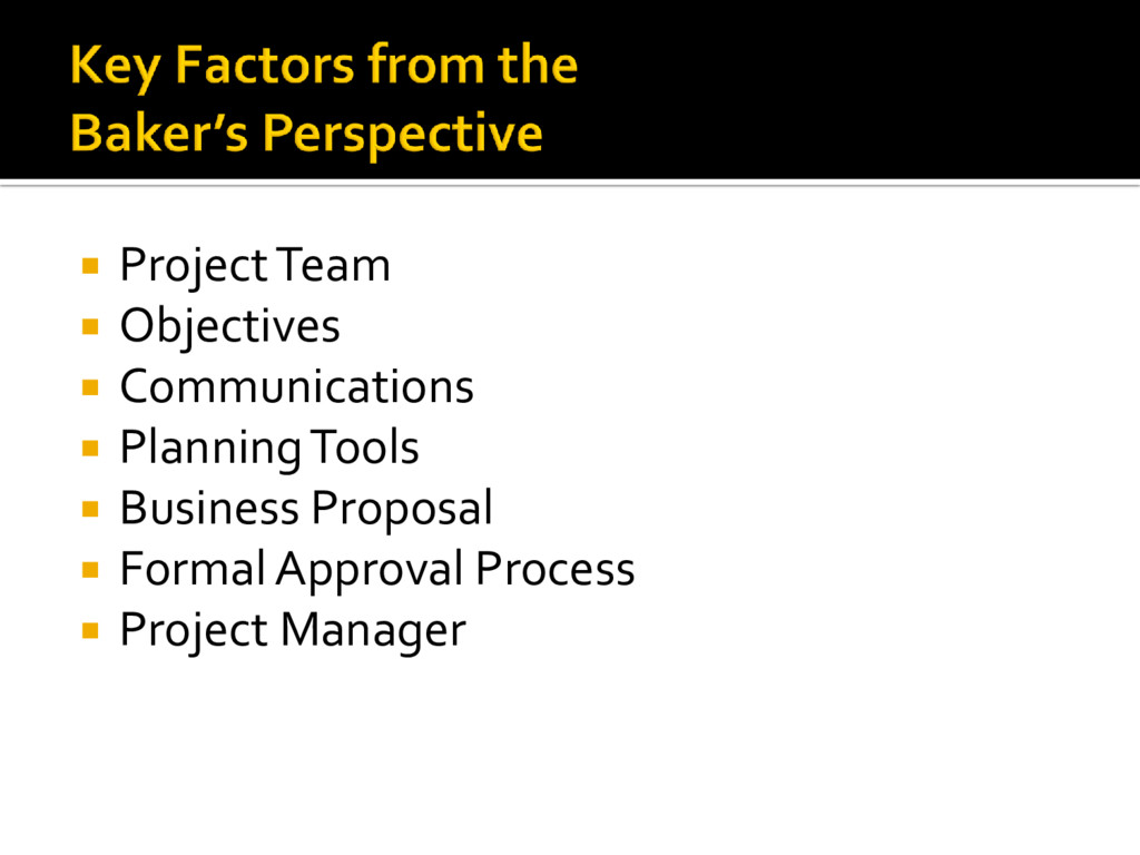  Project Team  Objectives  Communications  ...
