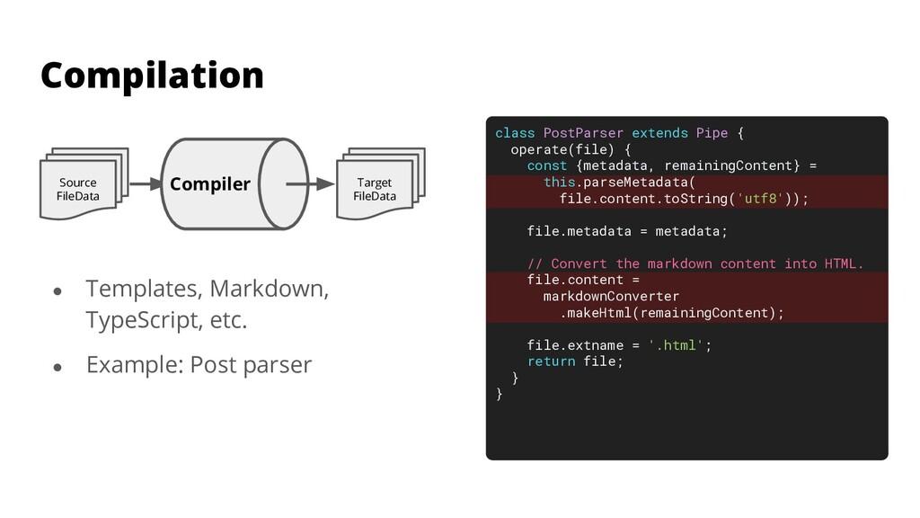 ● Templates, Markdown, TypeScript, etc. ● Examp...