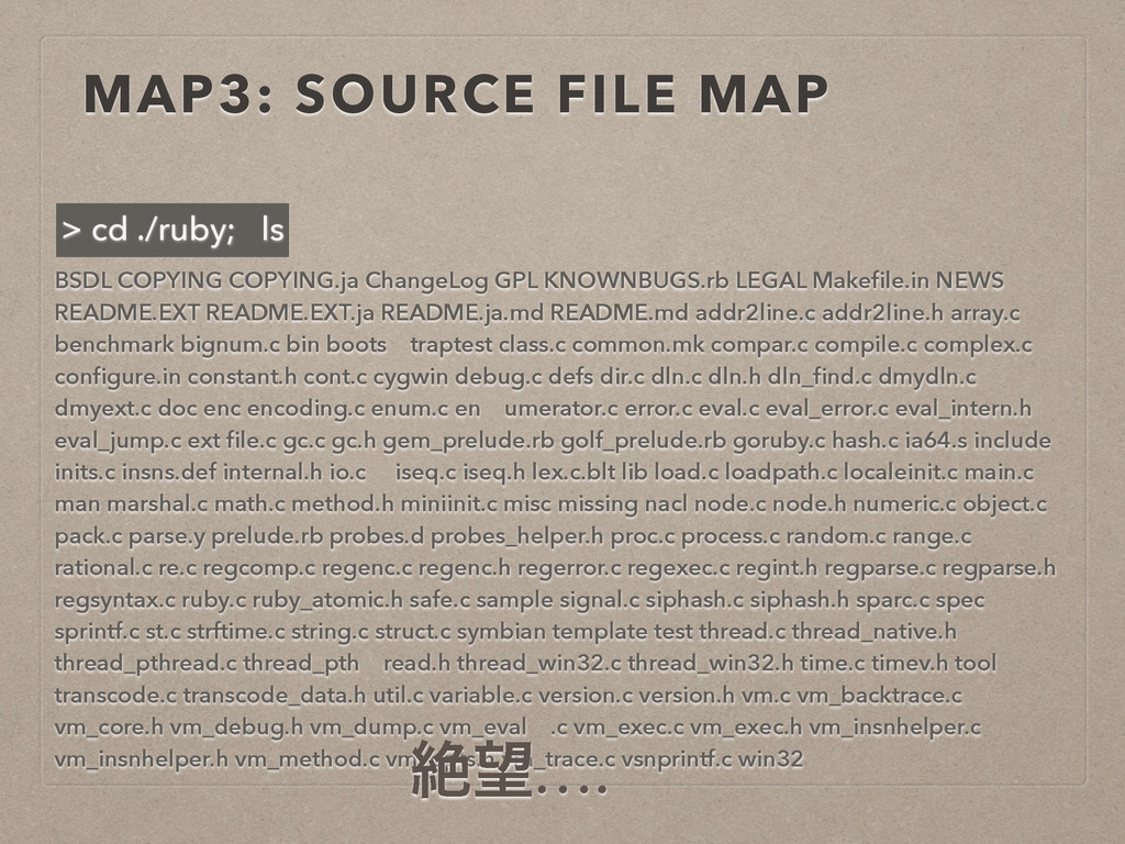 MAP3: SOURCE FILE MAP BSDL COPYING COPYING.ja C...
