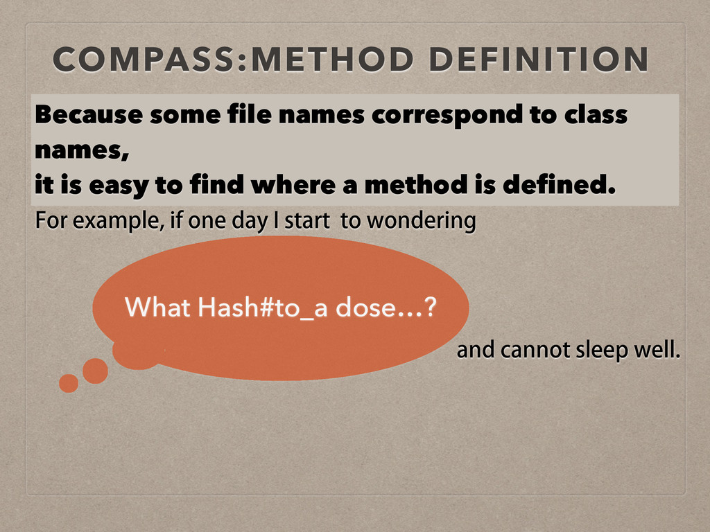 COMPASS:METHOD DEFINITION Because some file nam...