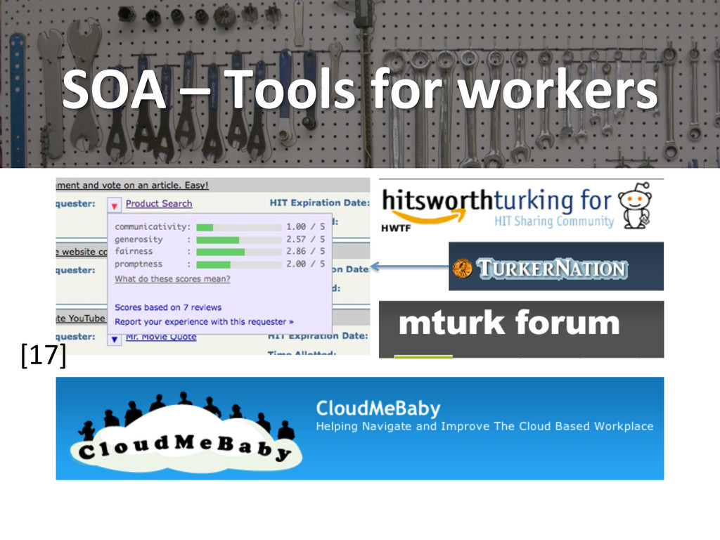 SOA – Tools for workers  [17]