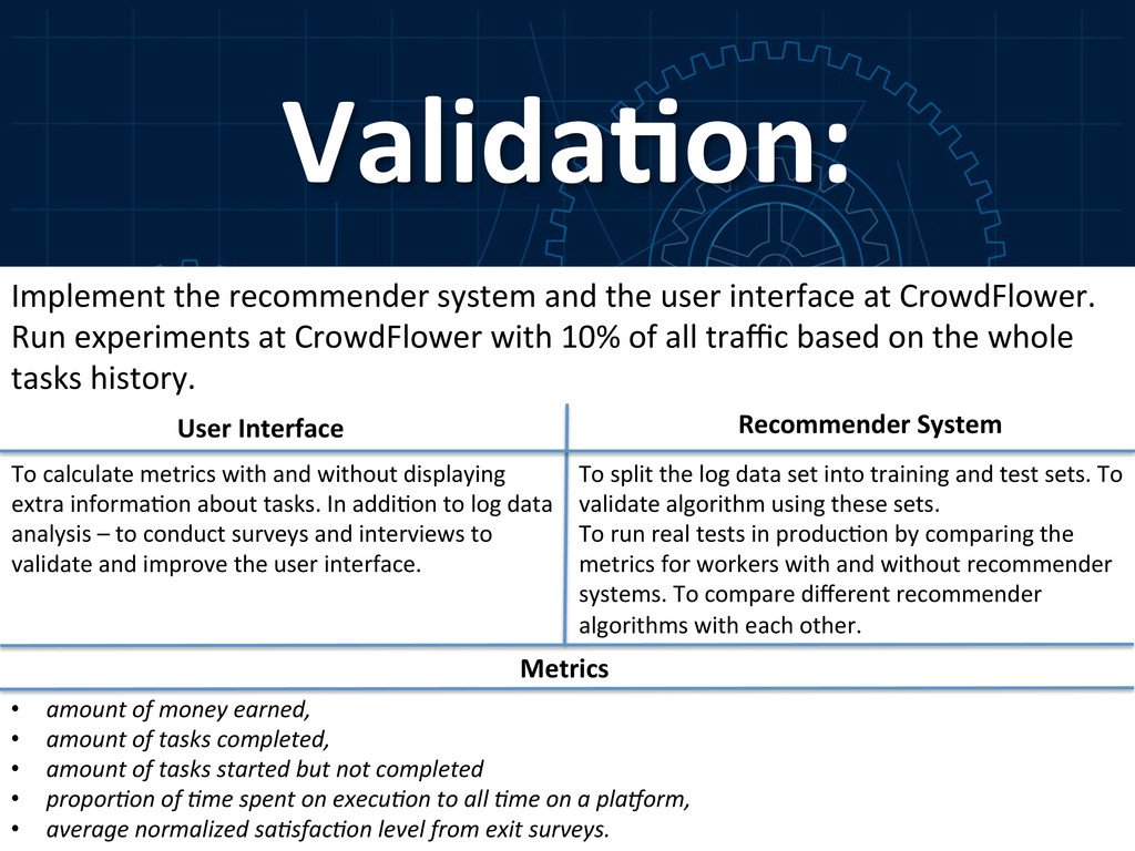Valida-on:  Implement the recommender...