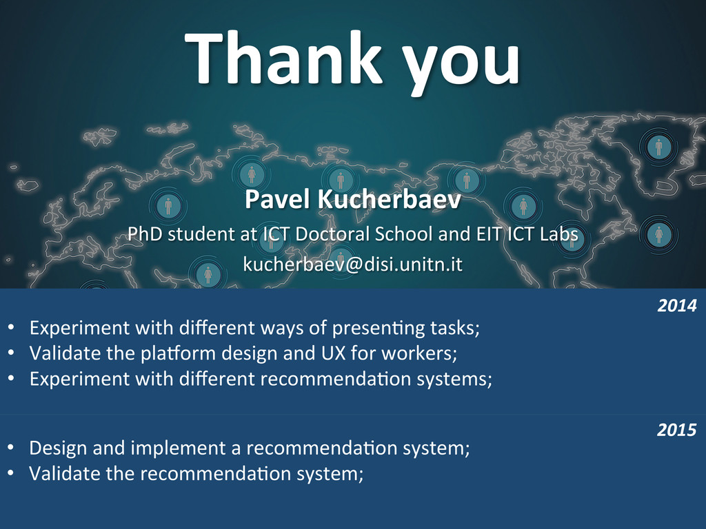 Thank you  • Design and implement...