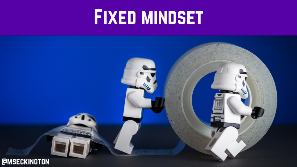 Fixed mindset @mseckington