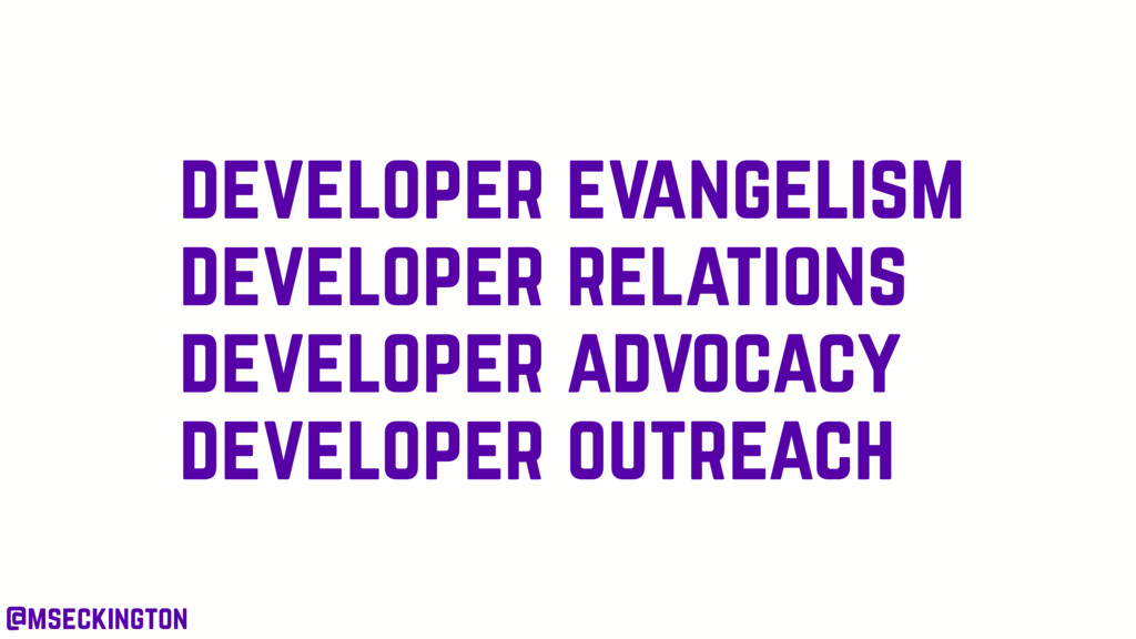 developer evangelism developer relations develo...