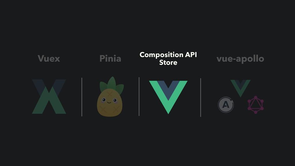 Vuex Pinia Composition API Store vue-apollo