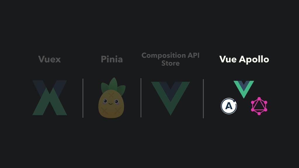 Vuex Pinia Vue Apollo Composition API Store