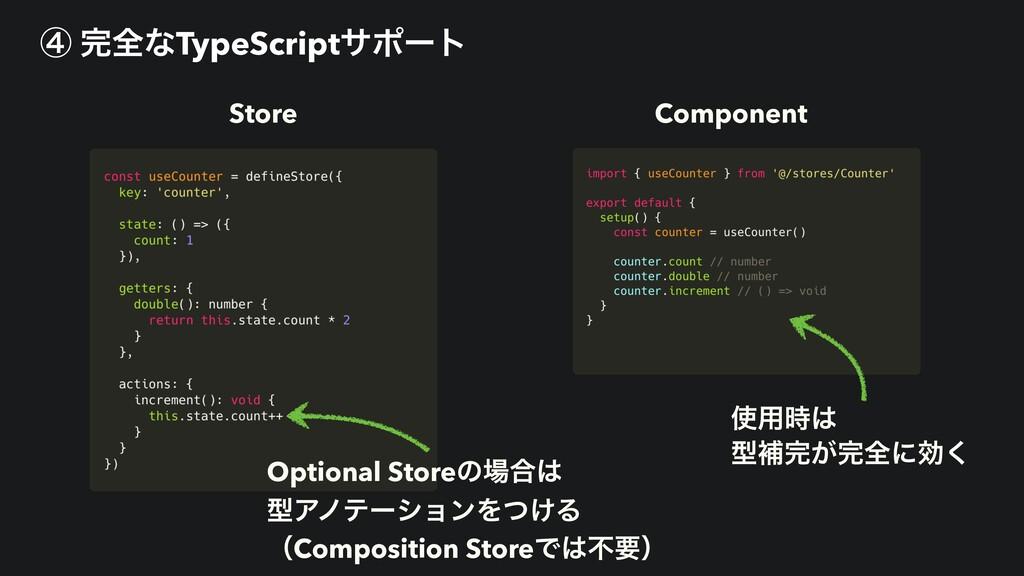 Store Component Optional Storeͷ߹ ܕΞϊςʔγϣϯΛ͚ͭΔ...