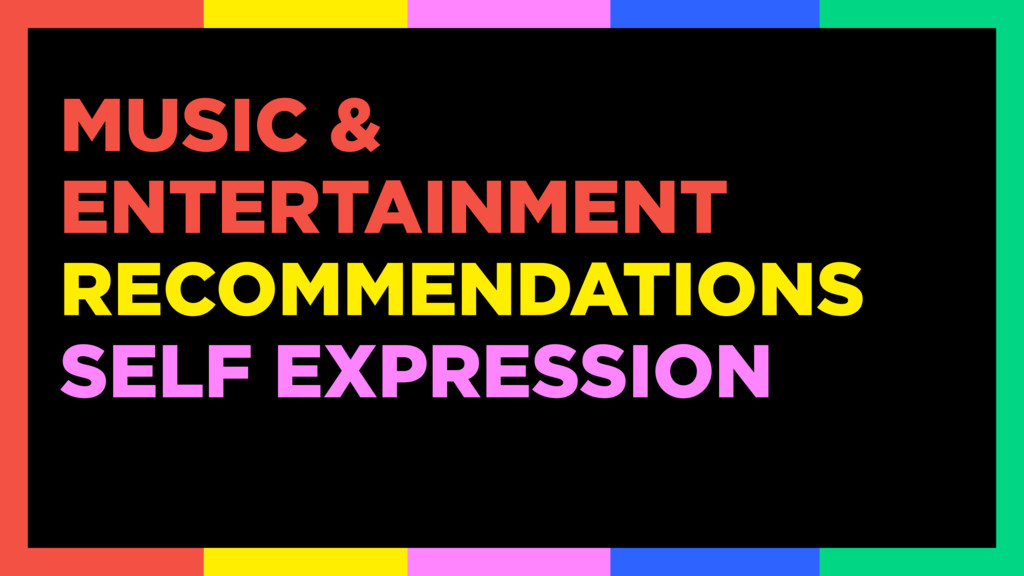 MUSIC & ENTERTAINMENT RECOMMENDATIONS SELF EXPR...