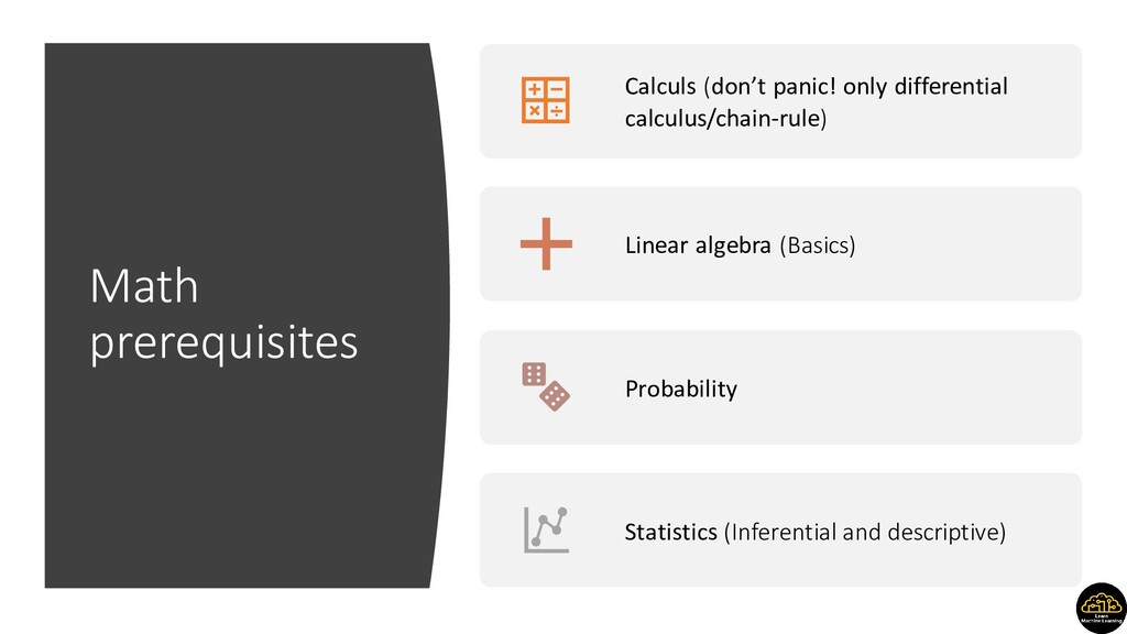 Math prerequisites Calculs (don't panic! only d...