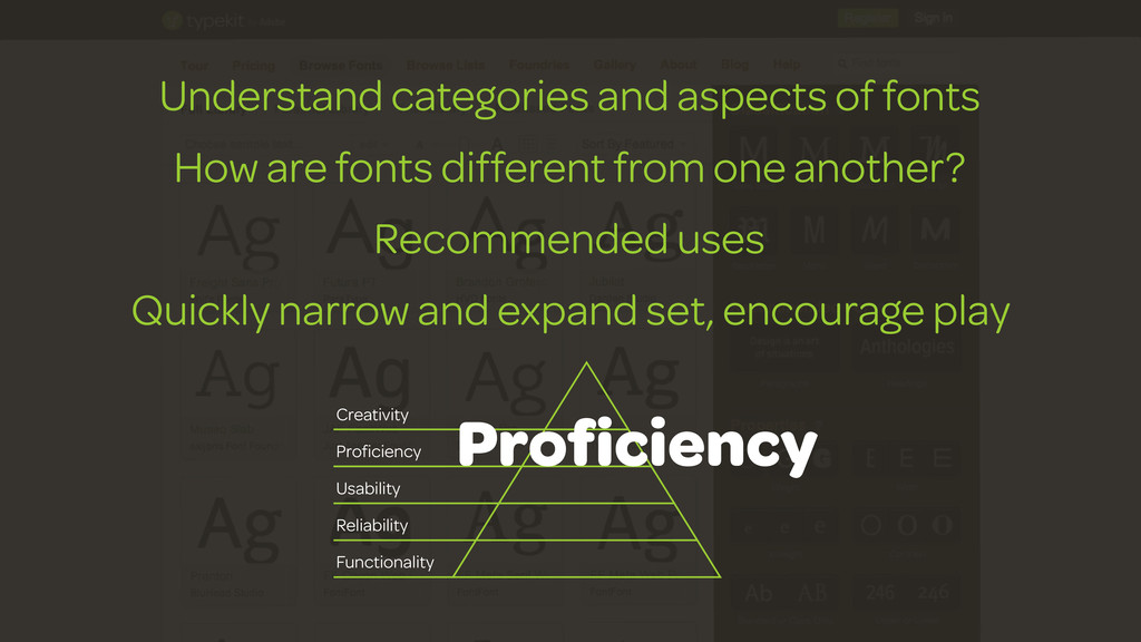 Understand categories and aspects of fonts How ...