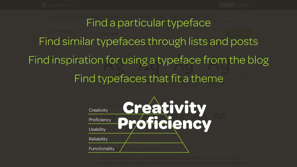 Find a particular typeface Find similar typefac...