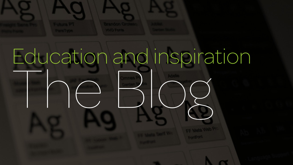 Education and inspiration The Blog