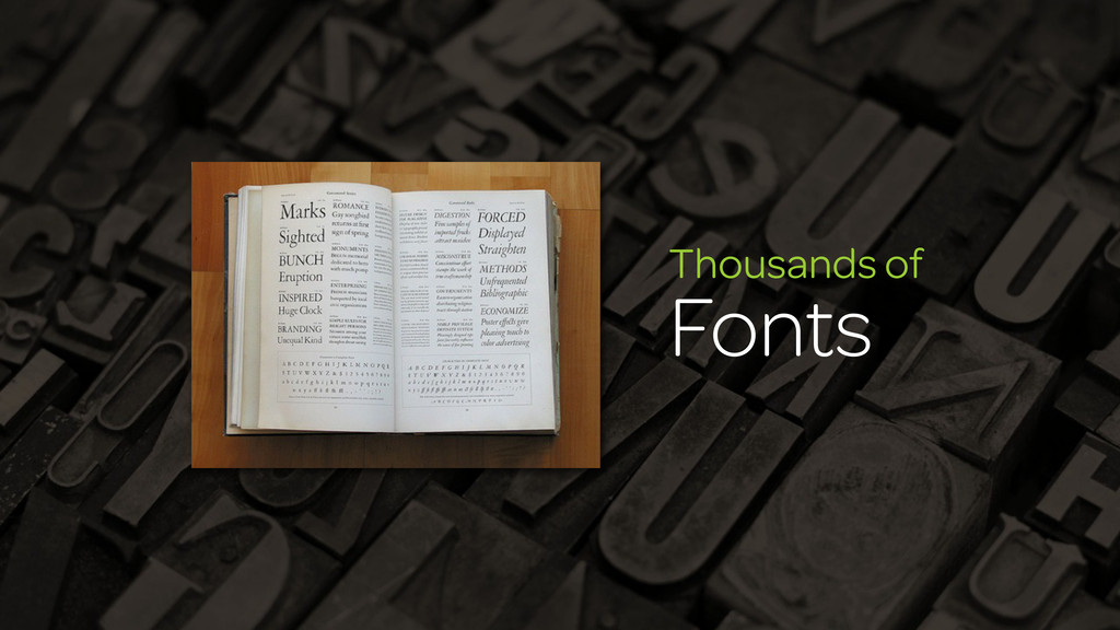 Thousands of Fonts